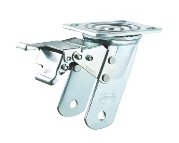 Swivel (metal) total brake zinc plated bracket code